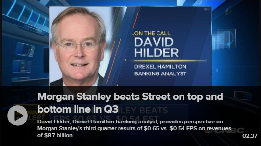 Hilder Discusses Morgan Stanley on CNBC