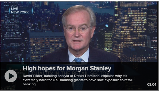 David Hilder Analyzes Bank Industry Ahead of Earnings Reports