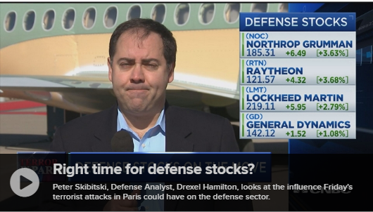 Skibitski Shares Thoughts on Defense Sector After Terror Hit