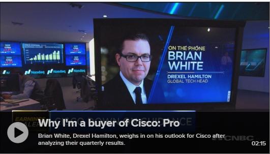 Brian White Analyzes Cisco on CNBC's Fast Money