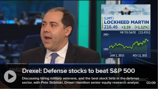 A&D Analyst Pete Skibitski Examines Sector on CNBC