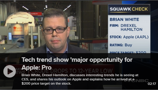 Brian White Defends Position on Apple on Squawk Box