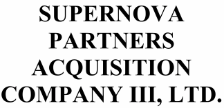 Supernova Partners Acquisition Company III ECM- Mar21
