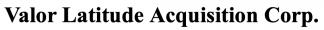 Valor Latitude Acquisition ECM- May21