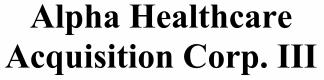 Alpha Healthcare Acquisition Corp III ECM- Jul21